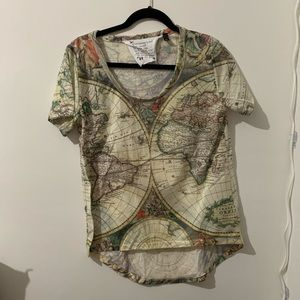 Vintage map T-shirt